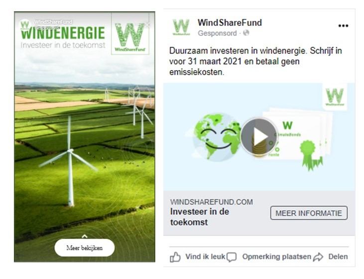 Social media campagne WindShareFund